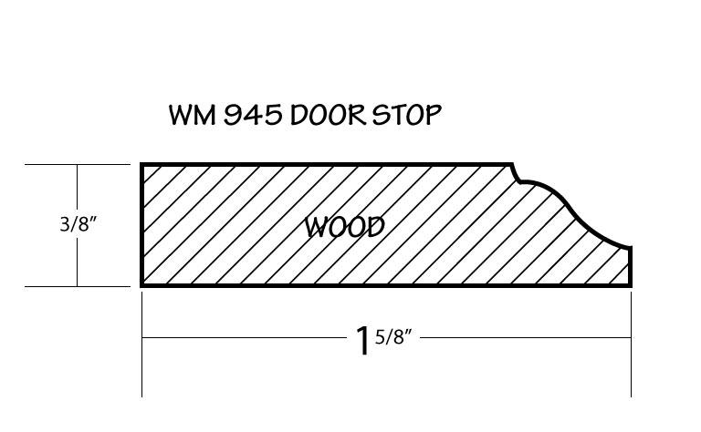 door stop moulding profile